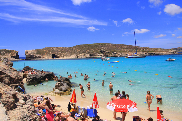 Malta 7 no itev letalo 184 for Top 1 beach in the world